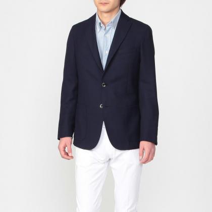 Reda Icesense Wool 3-button Jacket 1159149: Navy