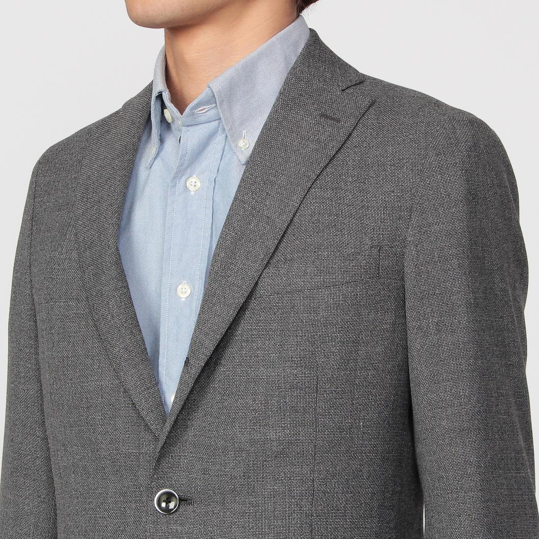 Reda Icesense Wool 3-button Jacket 1159150: Gray