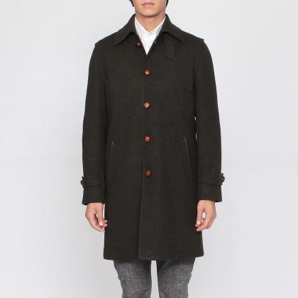 LodenTal Loden Coat: Green