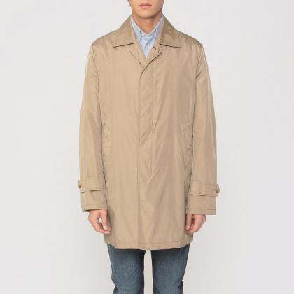 Barneys New York Pocketable Nylon Coat 1184978: Beige