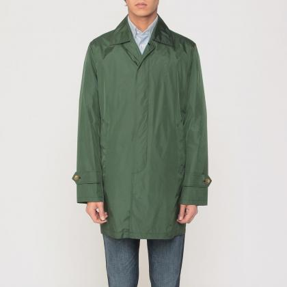 Barneys New York Pocketable Nylon Coat 1184979: Green
