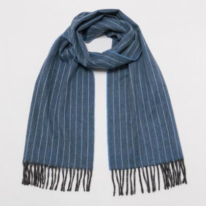 Drakes Wool Angora Scarf