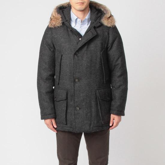 Tweed Arctic Parka ML WOCPS2256: Charcoal