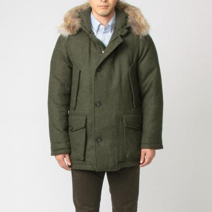 Tweed Arctic Parka ML WOCPS2256: Dark Green