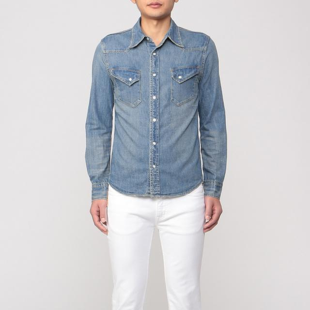 Remi Relief Denim Western Shirt 1203760