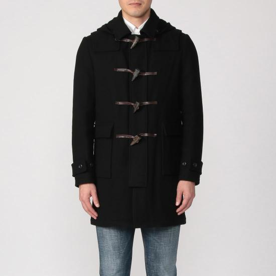 Hevo Duffle Coat: Black