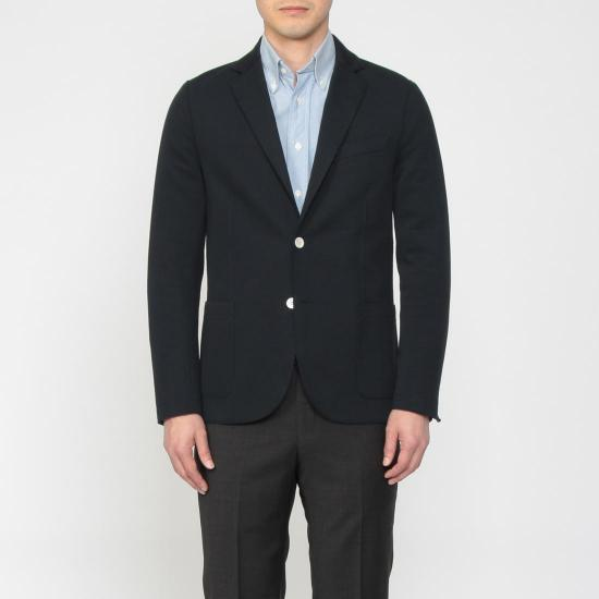 Blended Cotton Jersey 2-button Jacket 1212947: Navy
