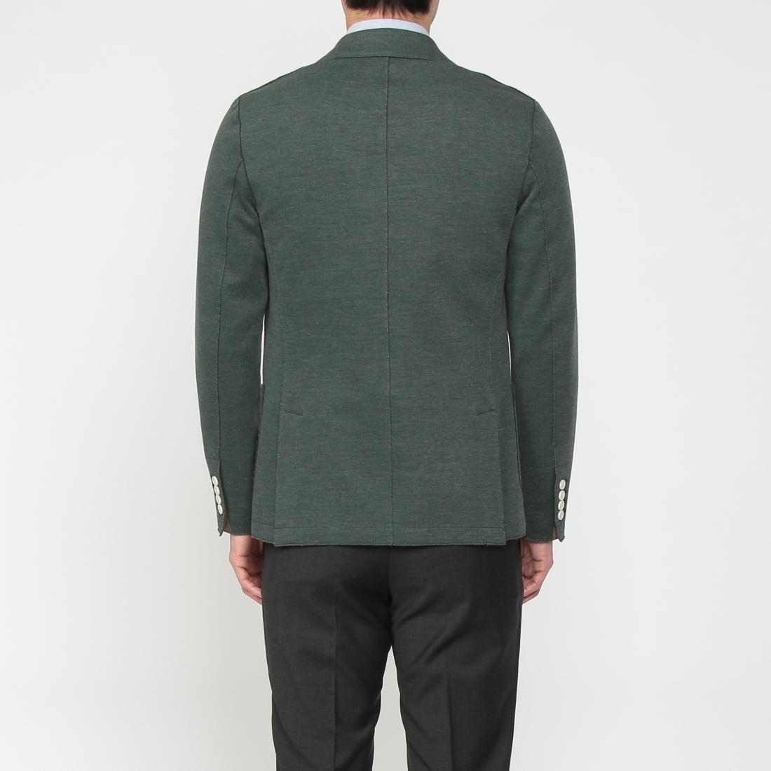 Blended Cotton Jersey 2-button Jacket 1212947: Green
