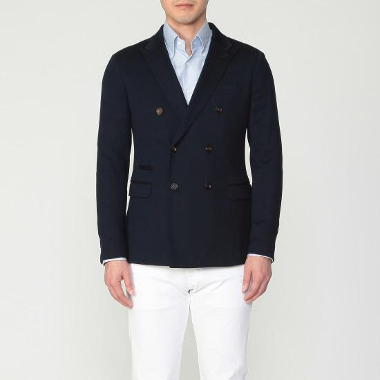 Jersey Double Breasted Jacket 1212951: Navy