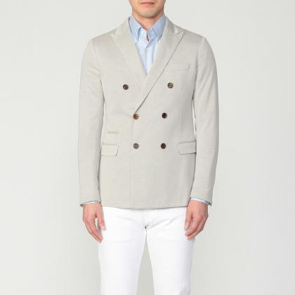 Jersey Double Breasted Jacket 1212951: Beige