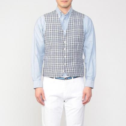 Mario Muscariello Linen Waistcoat