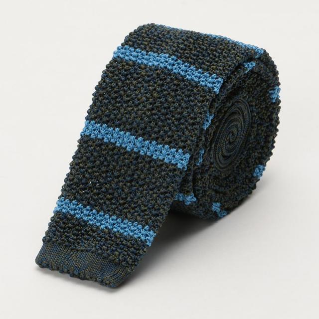 Barneys New York Silk Stripe Knit Tie 1222738
