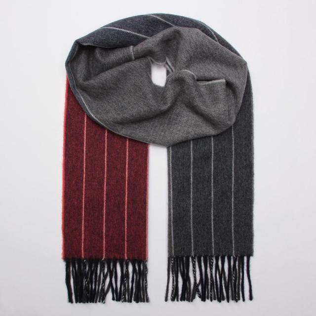 Begg x Barneys New York Lambswool Angora Stripe Scarf