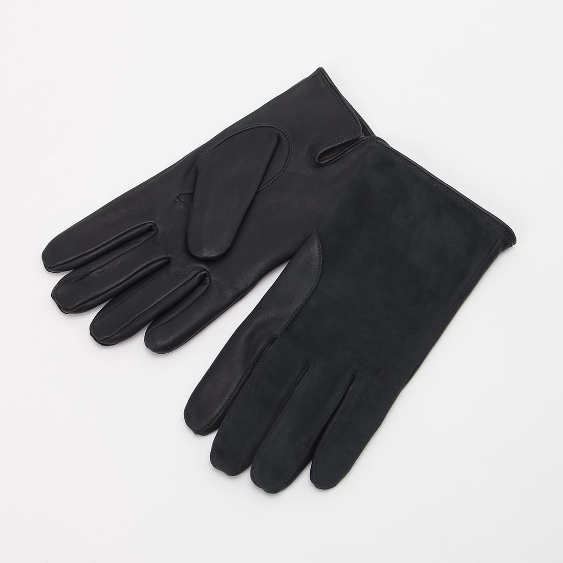 Lambskin Suede Gloves: Navy