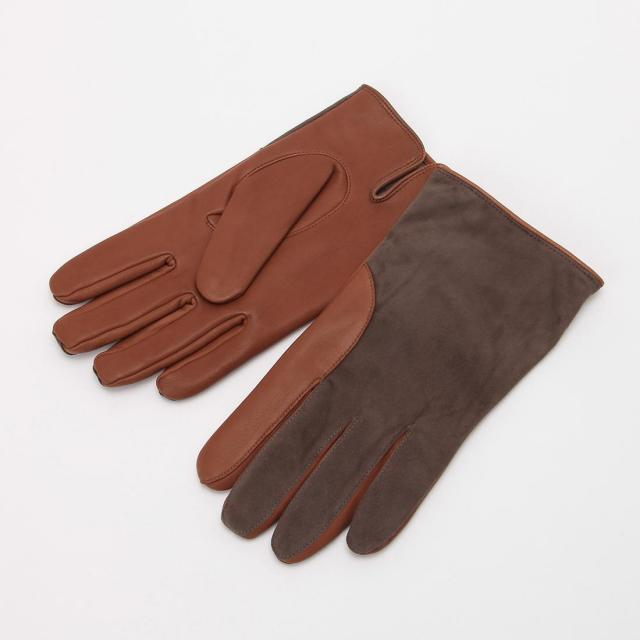 Lambskin Suede Gloves: Brown