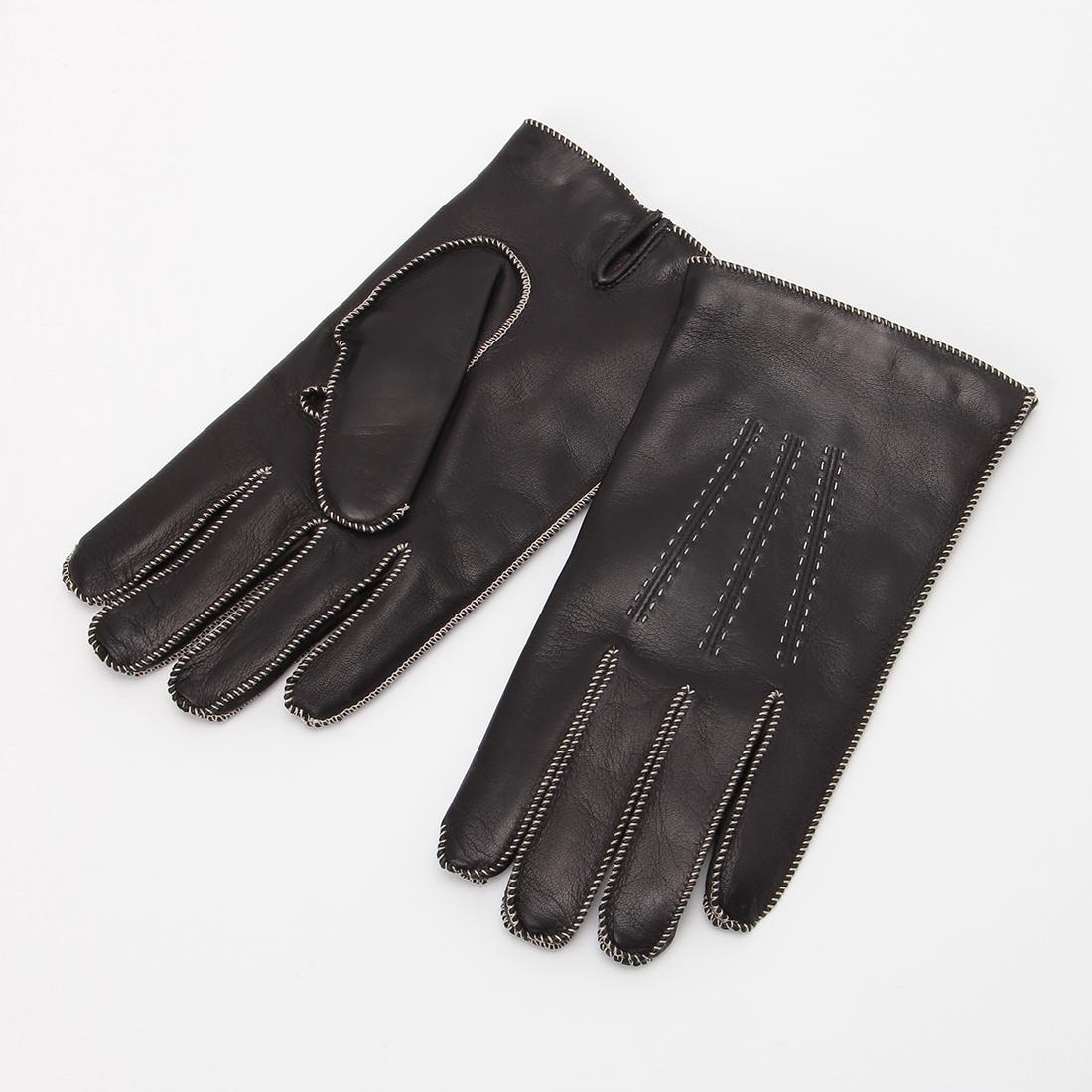 Lambskin Gloves: Black