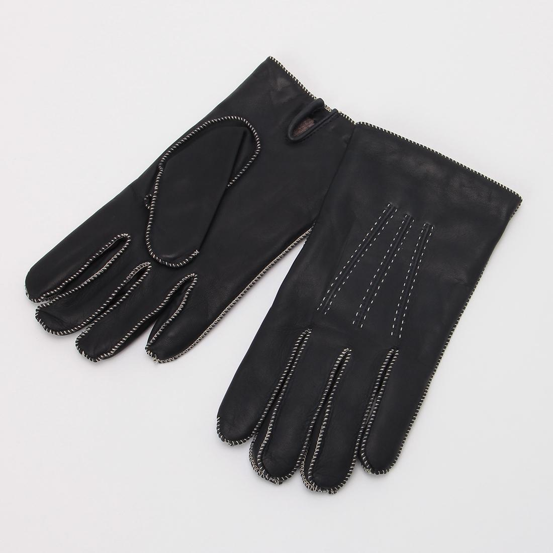 Lambskin Gloves: Navy