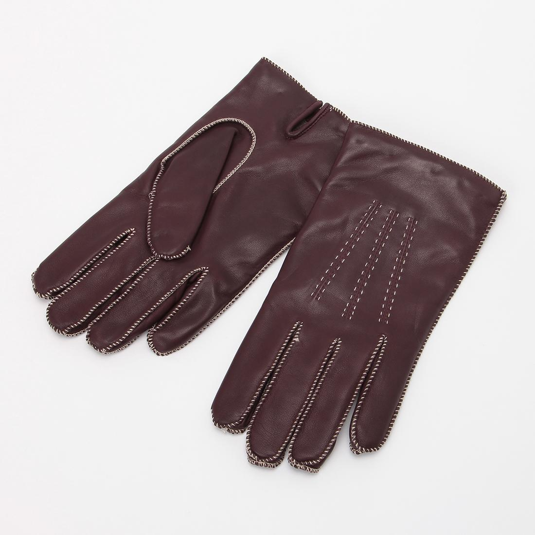 Lambskin Gloves: Burgundy
