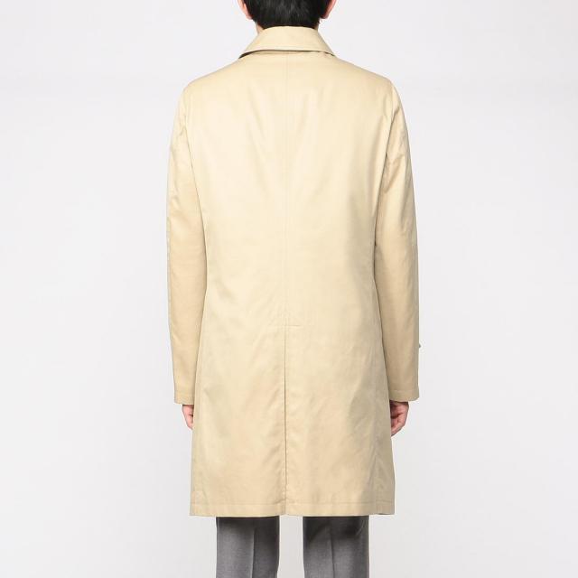 Cotton Gabardine Balmacaan Coat 1225078: Beige