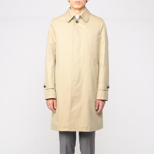 Barneys New York Cotton Gabardine Balmacaan Coat 1225078