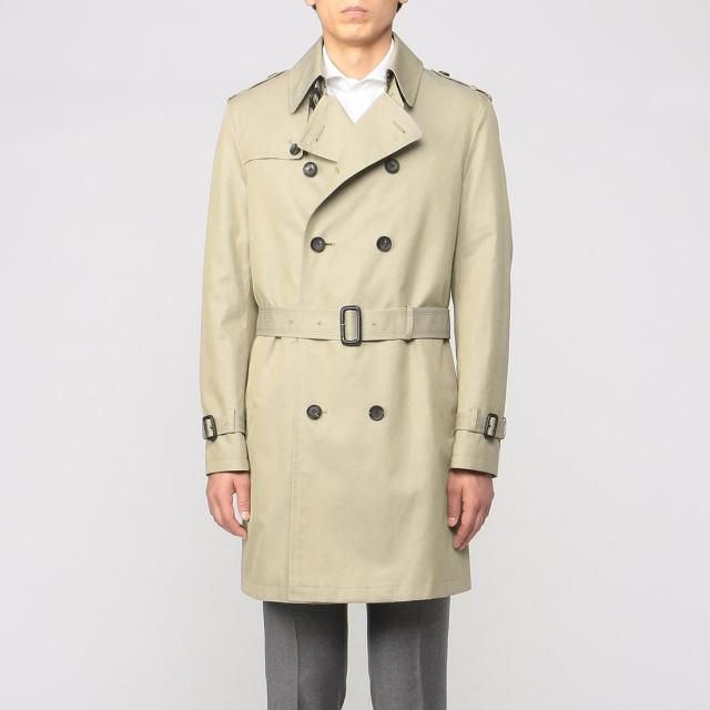 Barneys New York Cotton Gabardine Trench Coat 1225079