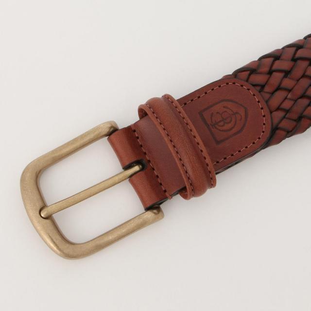 Crockett & Jones Belt: Brown Woven