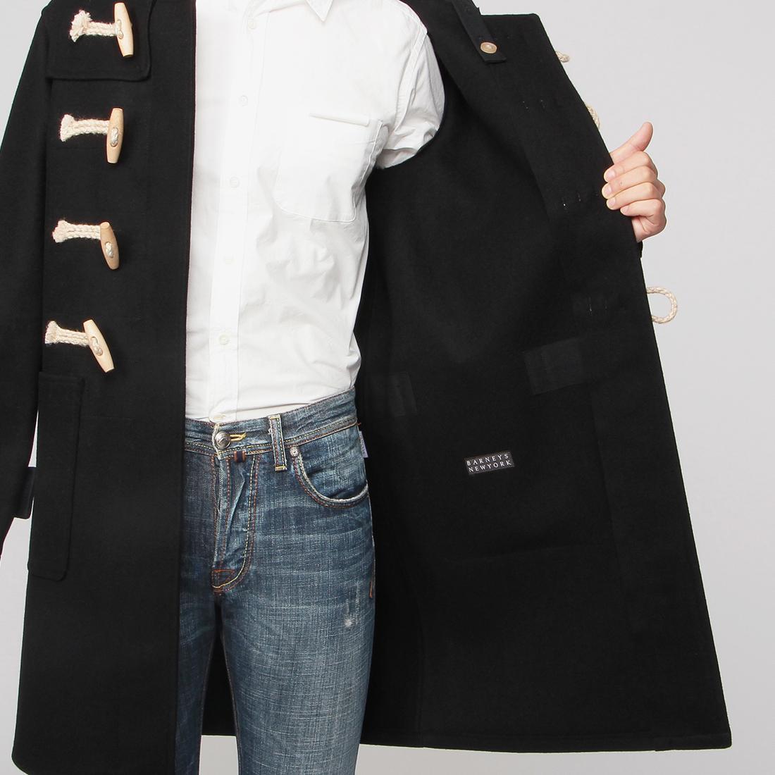 Barneys New York x Glenover Duffle Coat 2002764: Black