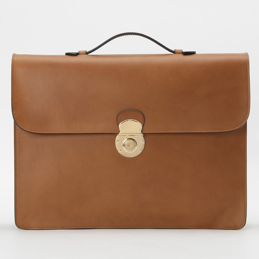 Boldrini Selleria Structured Briefcase: Light Brown