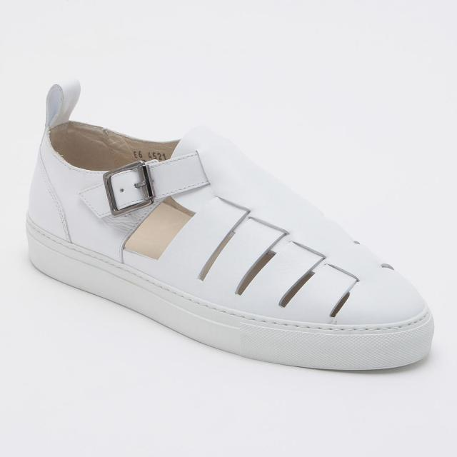 Barneys New York Leather Sandals 2010565: White