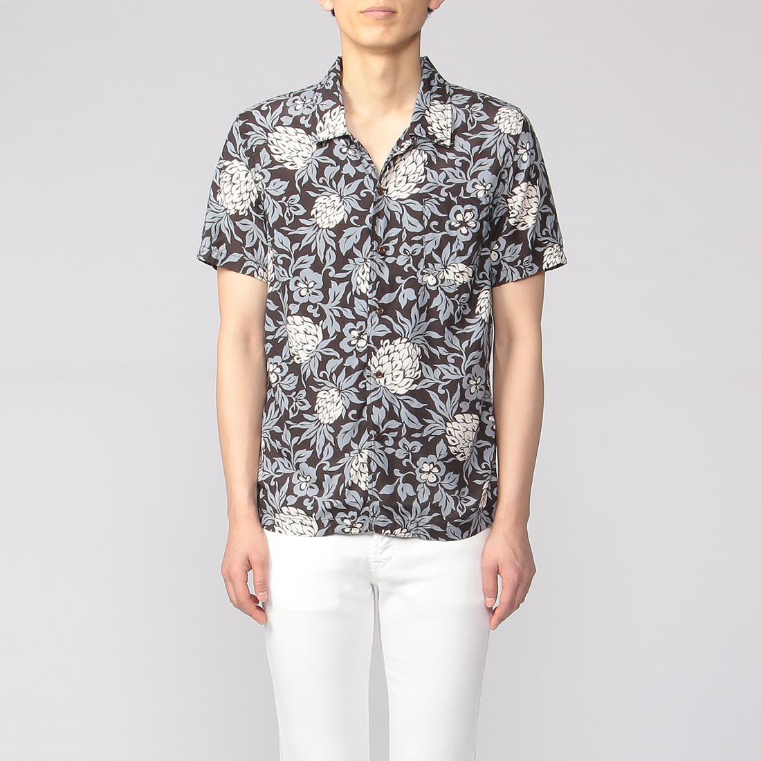 Remi Relief Aloha Shirt 2010822: Black