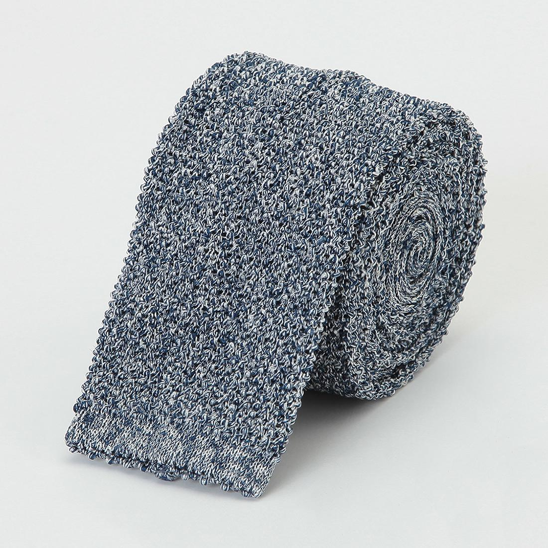 Barneys New York Silk Melange Knit Tie 2011115: Blue