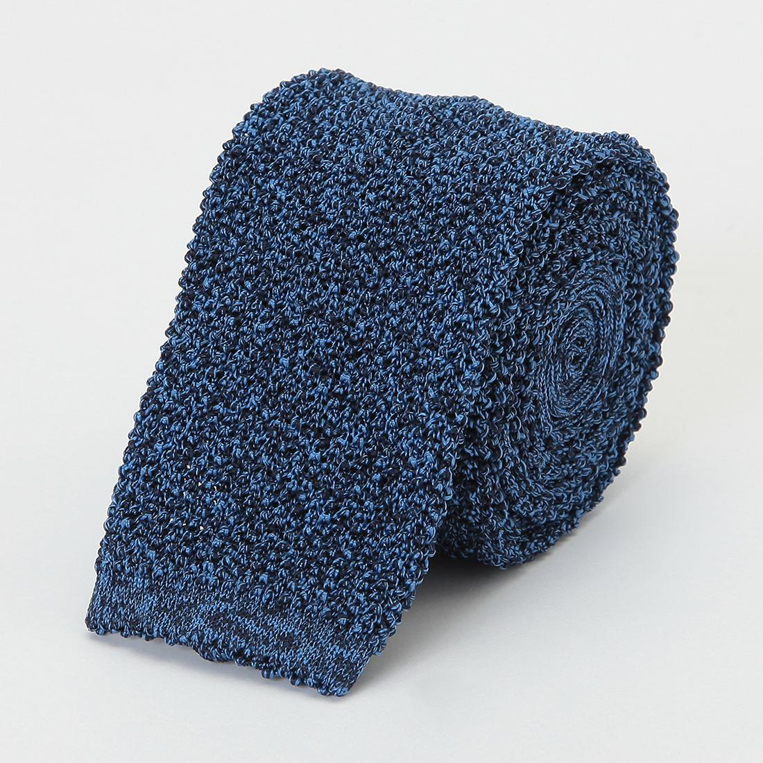 Barneys New York Silk Melange Knit Tie 2011115: Navy