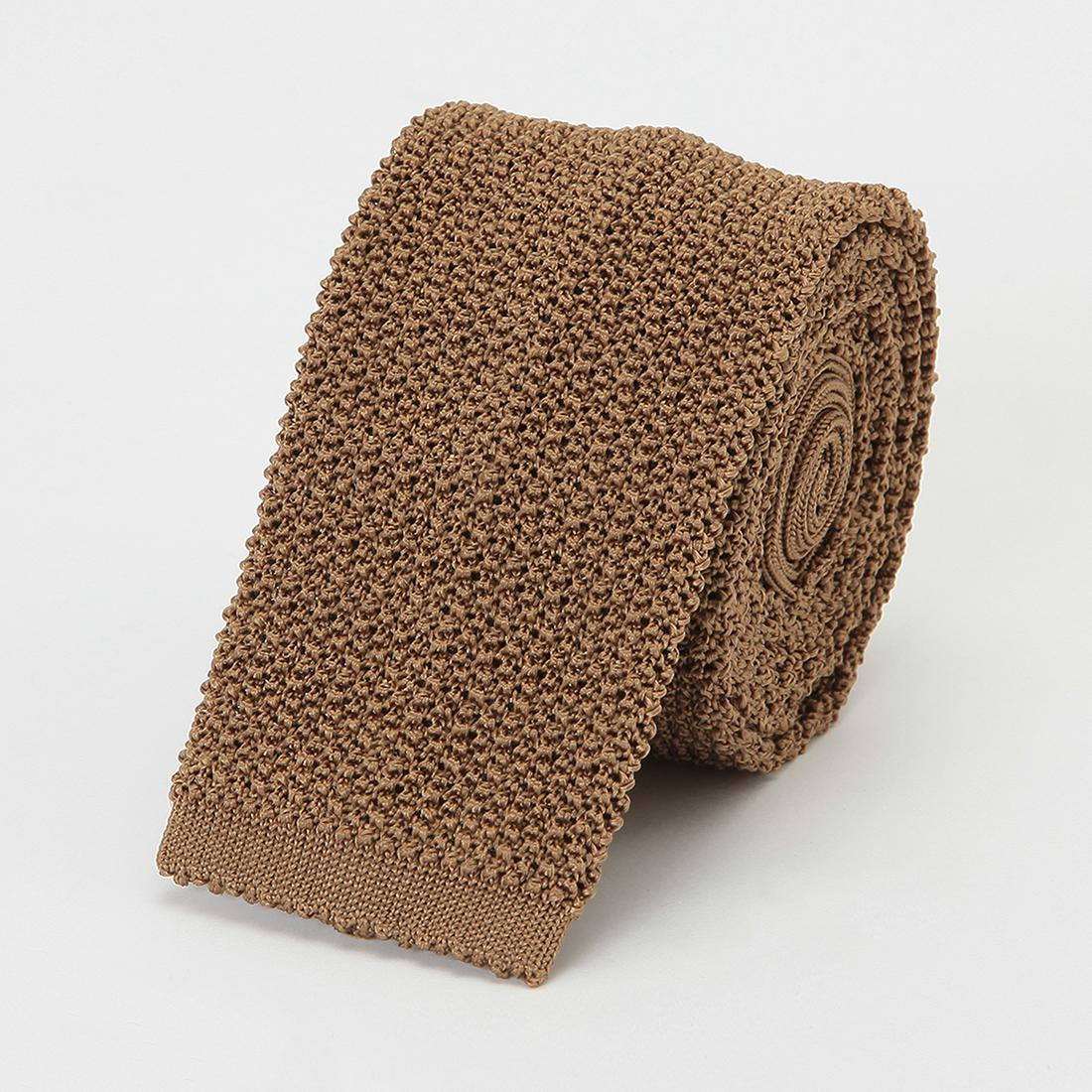 Barneys New York Silk Knit Tie 2011116: Beige
