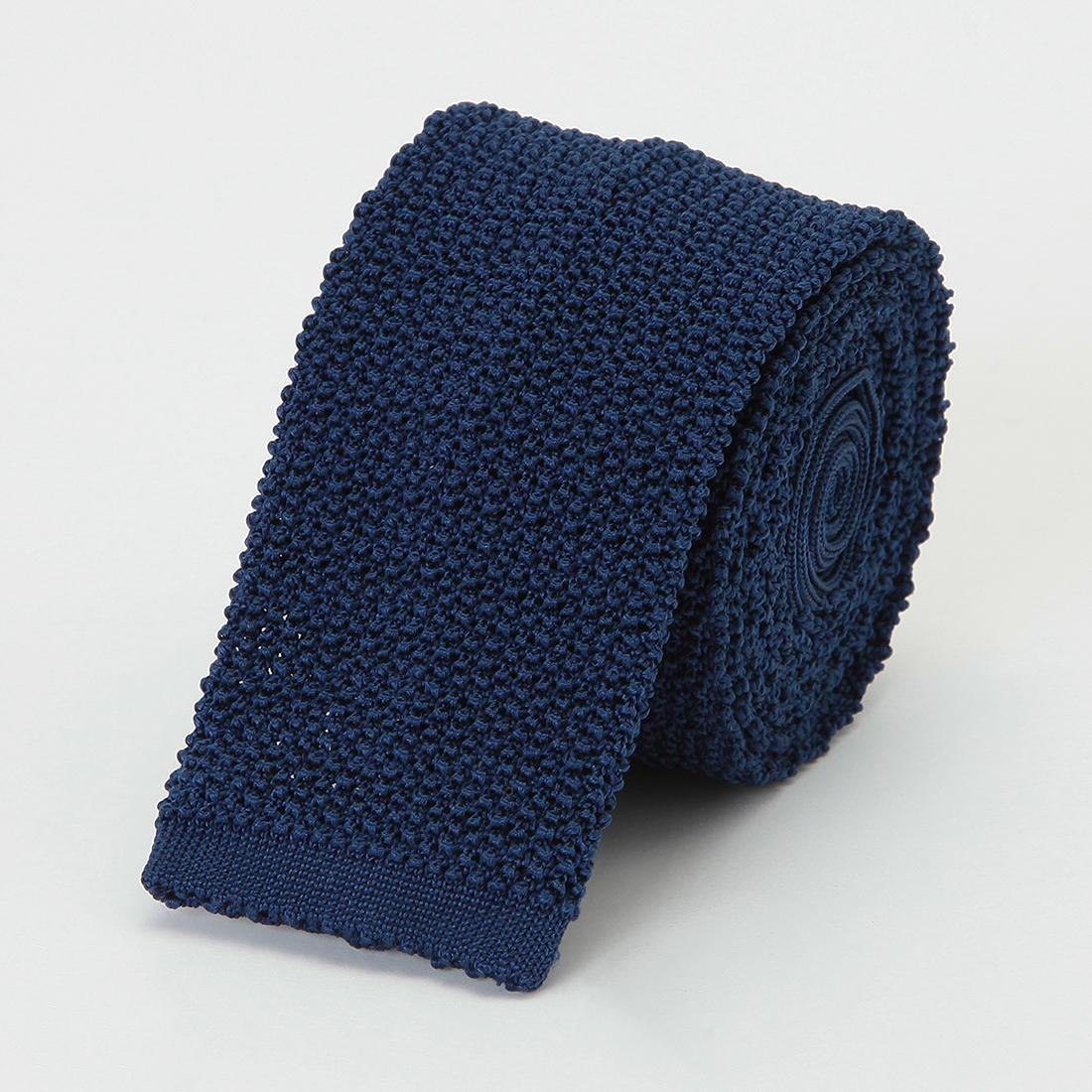 Barneys New York Silk Knit Tie 2011116: Blue