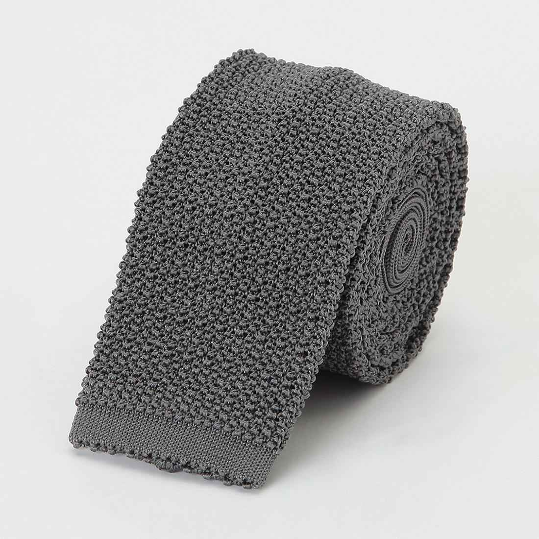 Barneys New York Silk Knit Tie 2011116: Grey