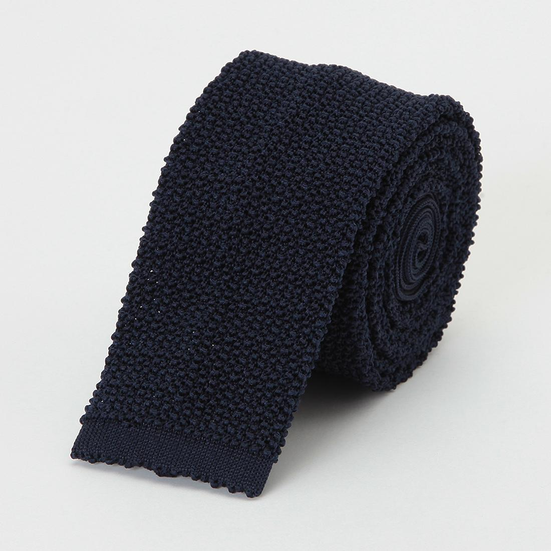 Barneys New York Silk Knit Tie 2011116: Navy