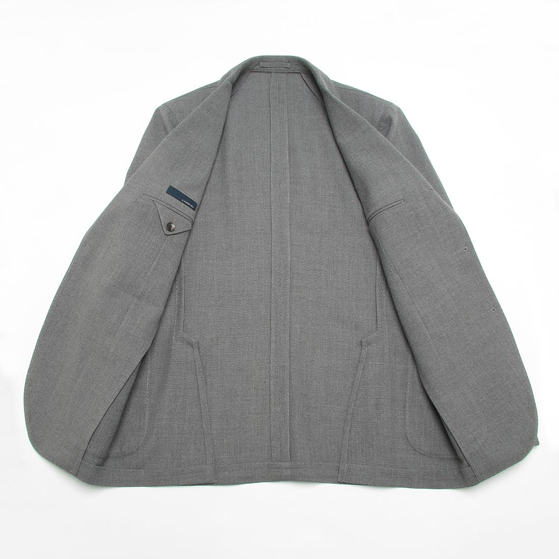 Wool Hopsack Jacket: Light Grey