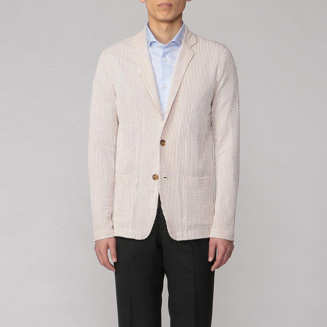 Seersucker Jersey Jacket 2014958: Beige