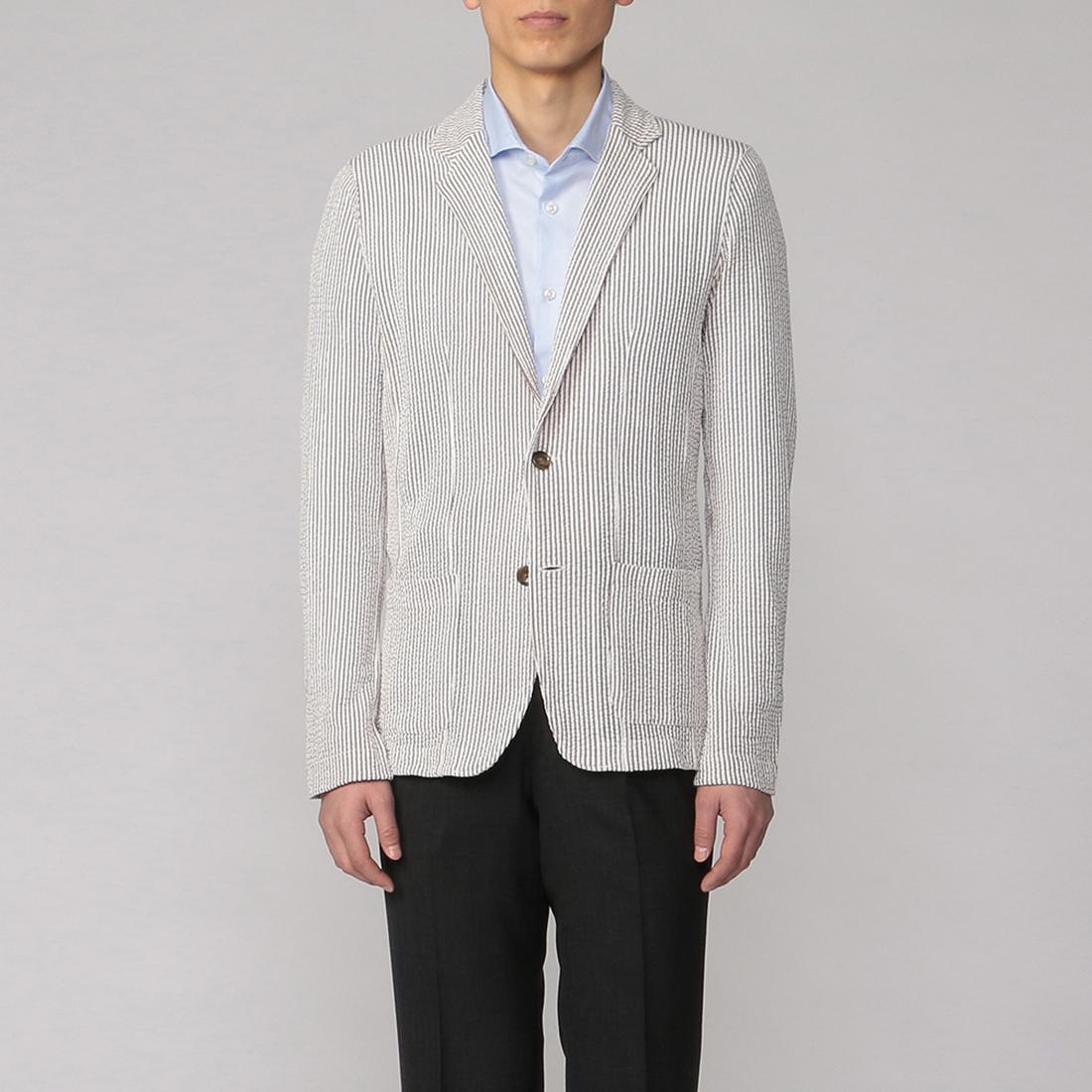 Seersucker Jersey Jacket 2014958: Grey
