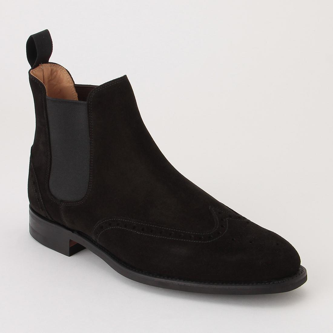 Brogue Chelsea Boot 2019142: Black Suede
