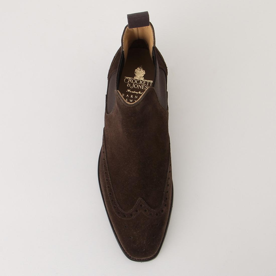 Brogue Chelsea Boot 2019142: Dark Brown Suede