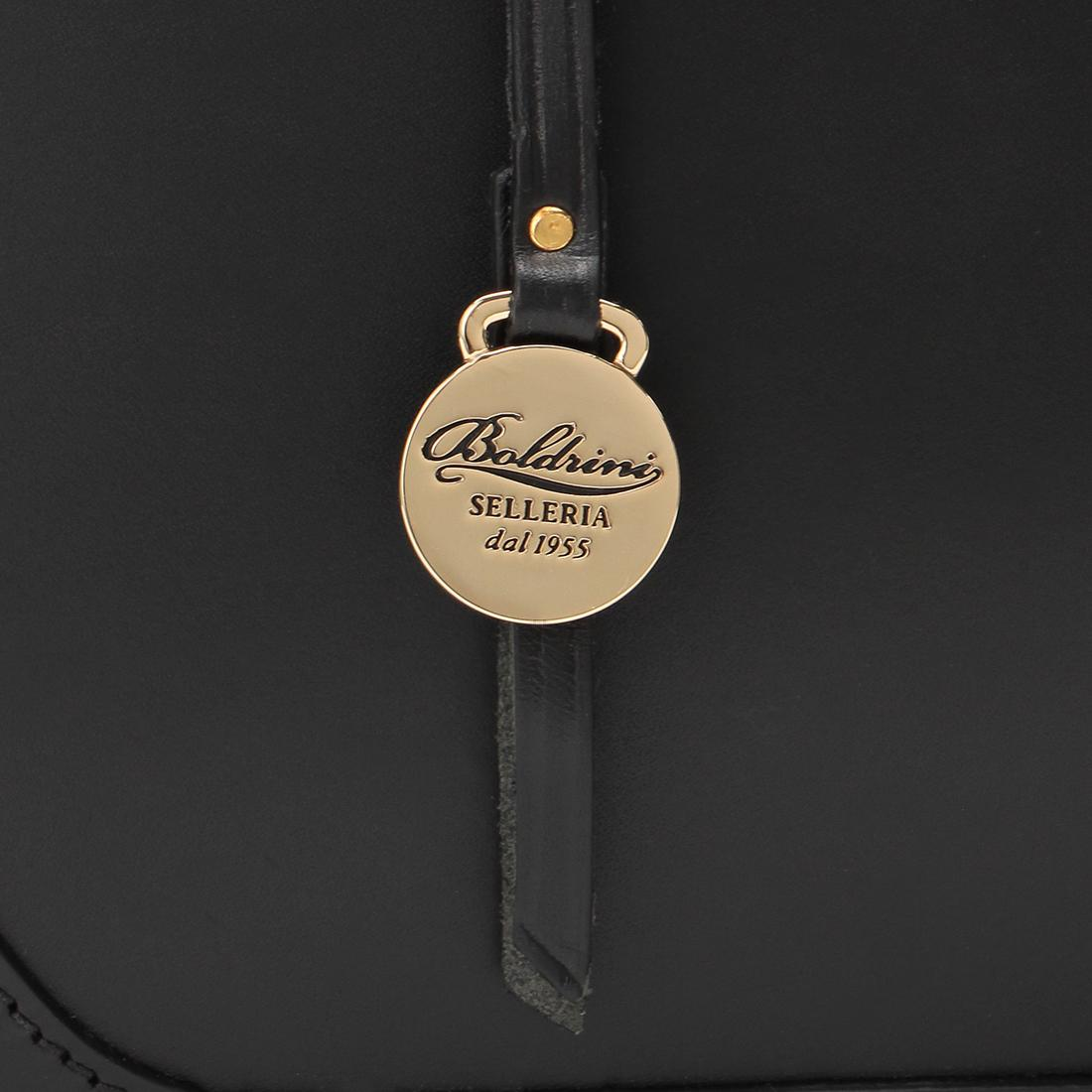 Boldrini Selleria Leather Briefcase: Black