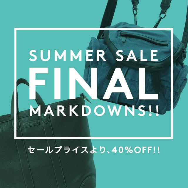 SUMMER SALE<br />FINAL MARKDOWNS