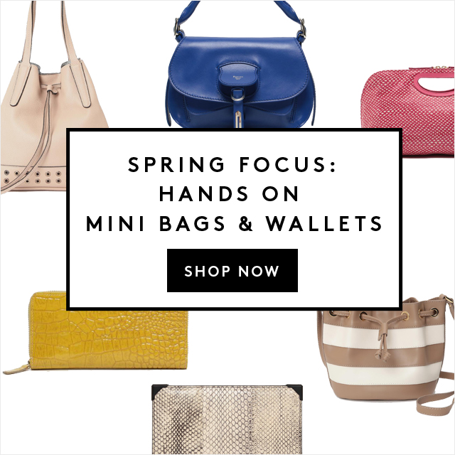 SPRING FOCUS:HANDS ON<br /> MINI BAGS & WALLETS